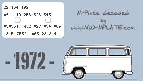 Loophole's 1972 Bay  Mplate-24298