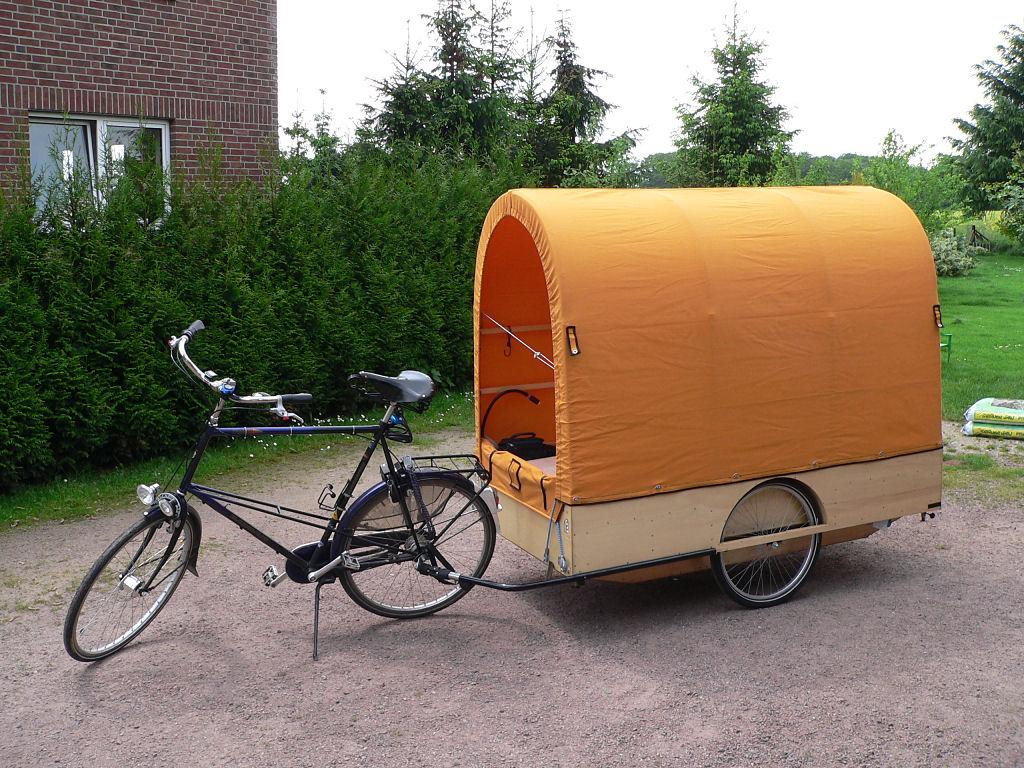 Caravane pliante, pour vélo ! 13-17-340