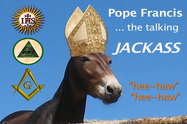 NEIL KEENAN UPDATE | Trick Or Treat Pope-francis-jackass