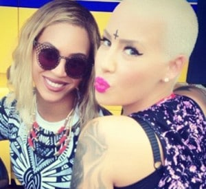 The Music Industry Exposed – Misuse and Abuse of Esoteric Symbols Amber-rose-forehead-cross-tattoo-300x275