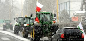 Hundreds Of Farmers Block Roads Protesting Monsanto's GMO Crops Gmo_poland_protest_tractors_735_350-300x143