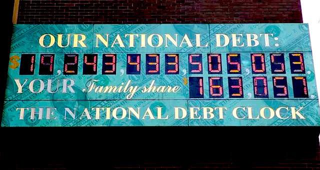 NESARA: The Legislation that Almost Freed us from Debt Slavery Debt-Clock-2016-2