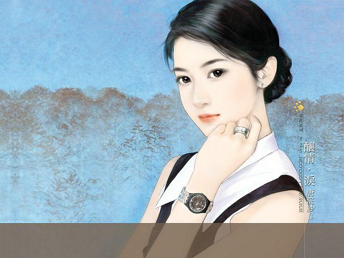خلفيات كمبيوتر للبنات Art_paintings_of_sweet_girls_b825