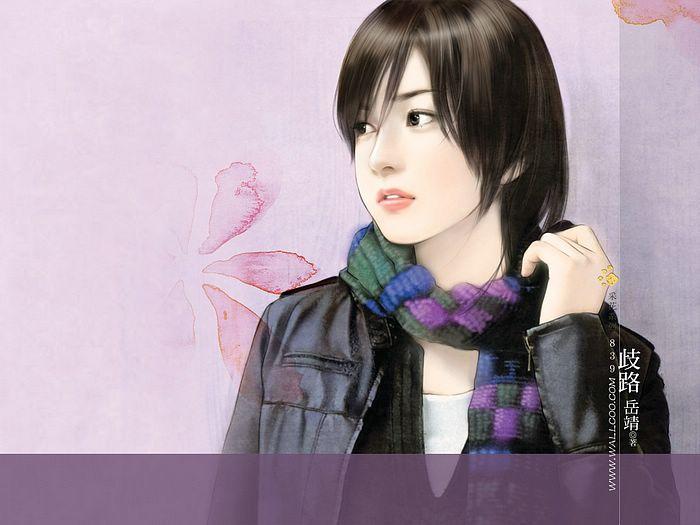 خلفيات كمبيوتر للبنات Art_paintings_of_sweet_girls_b839