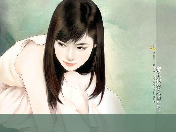 خلفيات كمبيوتر للبنات Art_paintings_of_sweet_girls_b840