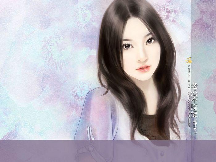 خلفيات كمبيوتر للبنات Art_paintings_of_sweet_girls_b847