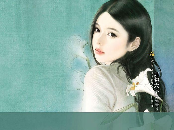 خلفيات كمبيوتر للبنات Art_paintings_of_sweet_girls_b855
