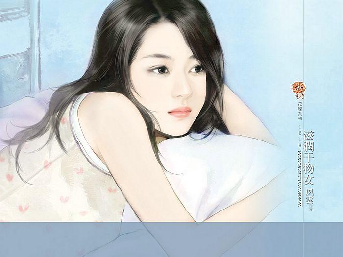 خلفيات كمبيوتر للبنات Art_paintings_of_sweet_girls_bi41218