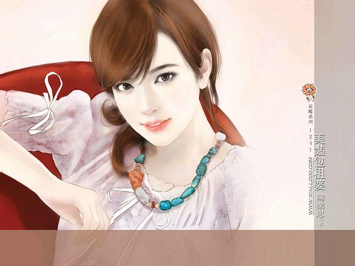 خلفيات كمبيوتر للبنات Art_paintings_of_sweet_girls_bi41241