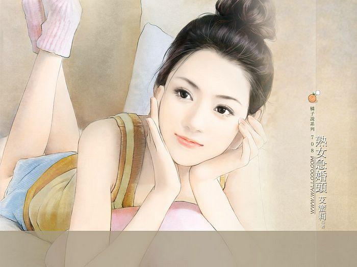 خلفيات كمبيوتر للبنات Art_paintings_of_sweet_girls_bi708