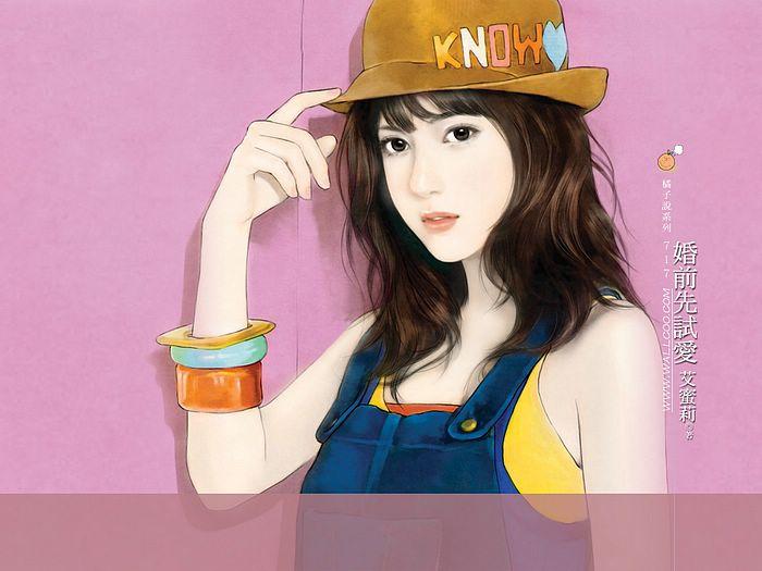 خلفيات كمبيوتر للبنات Art_paintings_of_sweet_girls_bi717