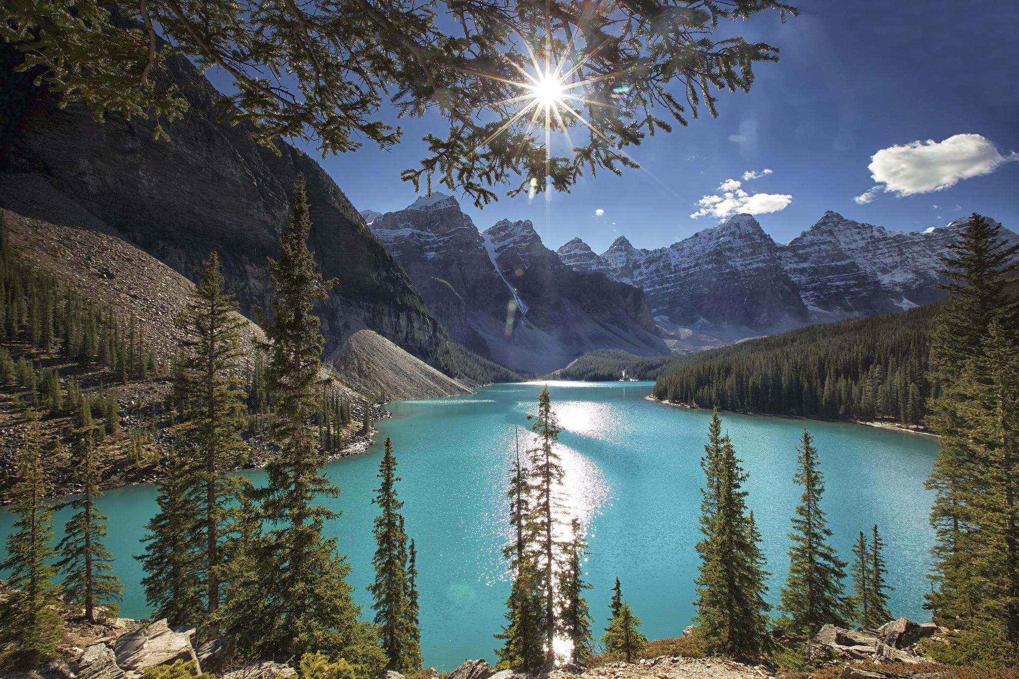 Votre âme est parfois triste et vous recherchez la Paix ? Parcourez ce fil de discussion... Moraine-lake-alberta-canada-1080P-wallpaper