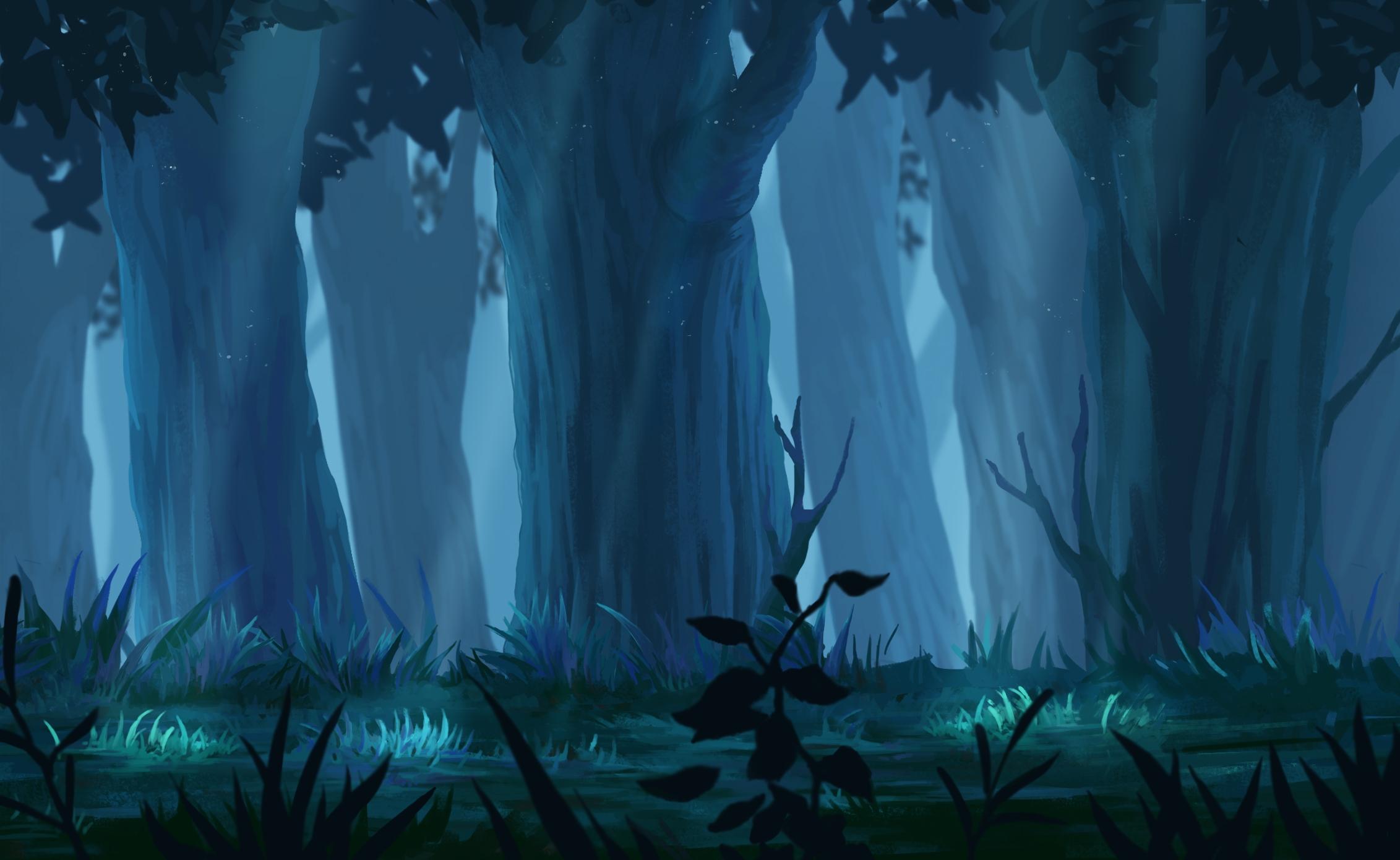 Kisanagi WS Atsushi Anime-forest-landscape-trees-sunbeam-plants-anime-16571