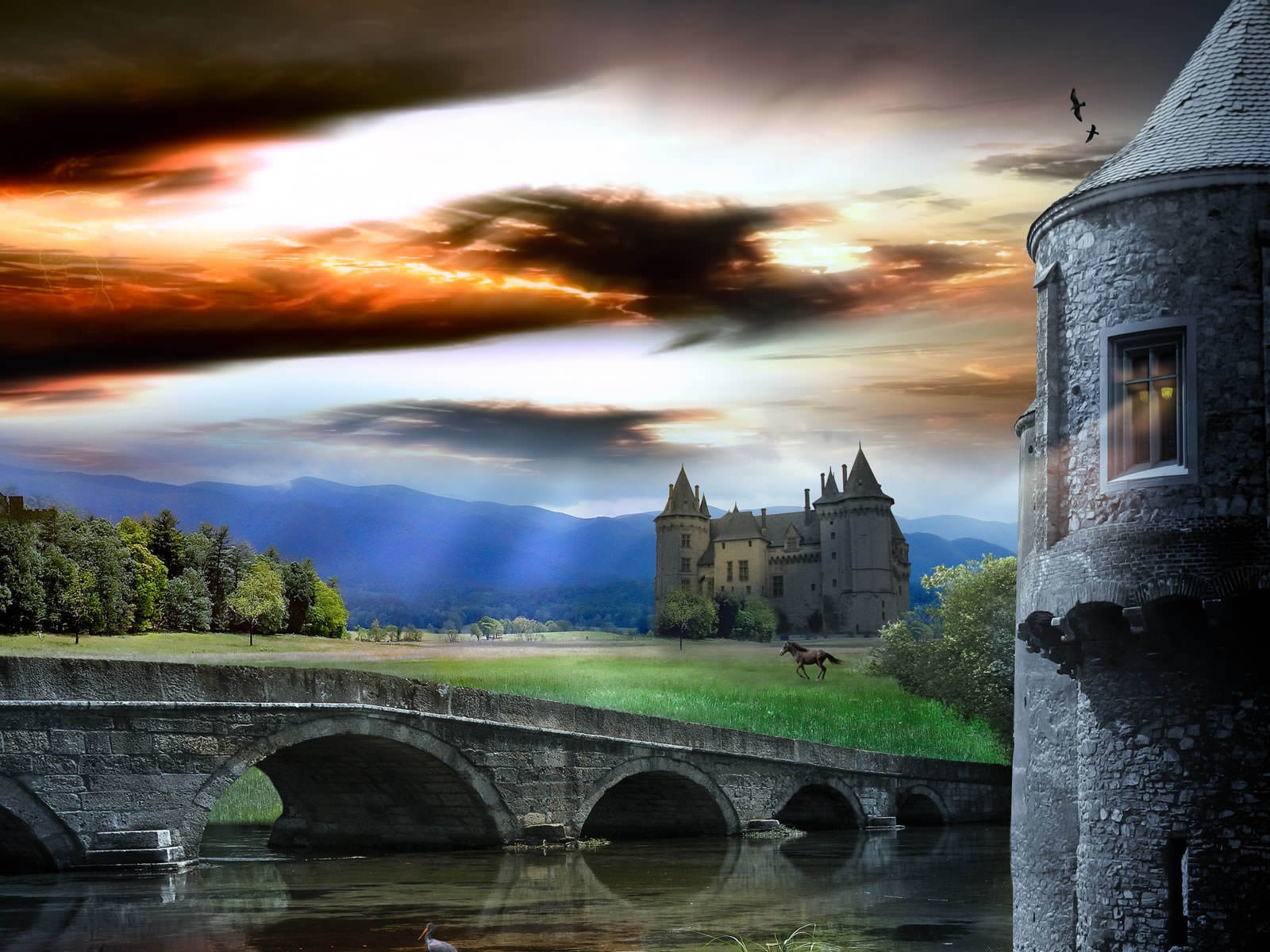 HD wallpapers Sunrise-over-castle-1600x1200-1206011
