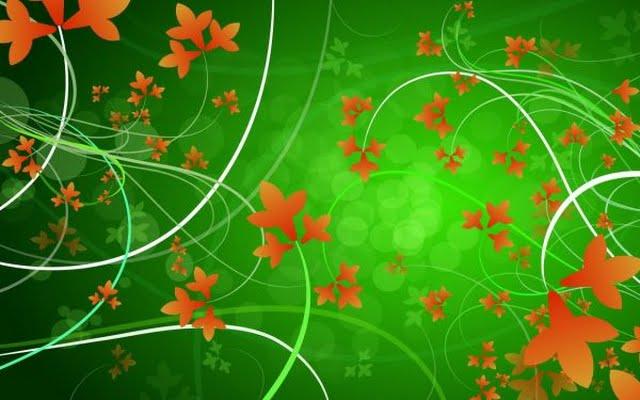 Magija zelene Leaves-vector-20