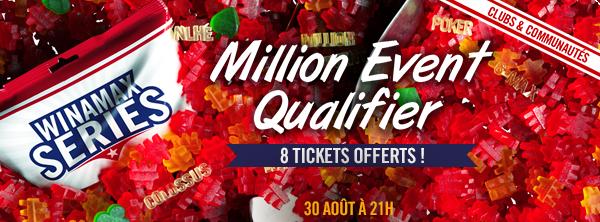 Qualifiez-vous au Million Event pour 2 € ! 11161805065b7eac0dcab6a
