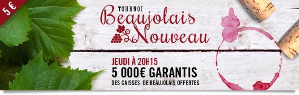 Tournoi Beaujolais nouveau : 5 000 € garantis 11172346775a0db6e40becc