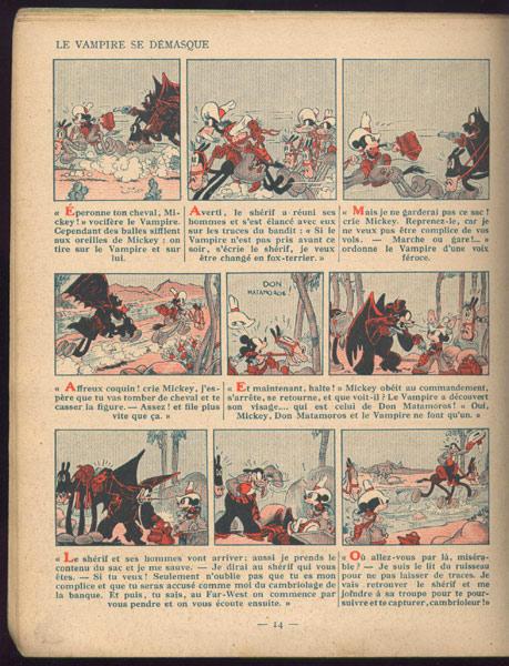 Mickey par Iwerks, Gottfredson et les autres Mickey-mouse-farWest-vampir