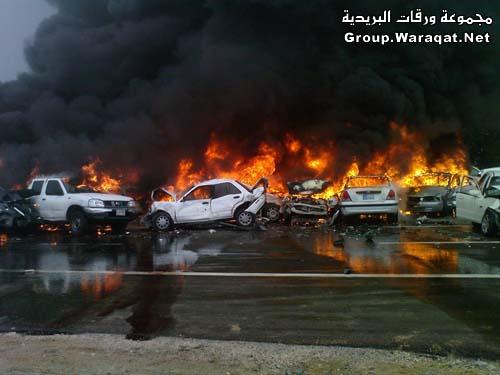 ثلاثة قتلى ومئات الجرحى بأسوأ حادث مرور بالإمارات Abudhabi1