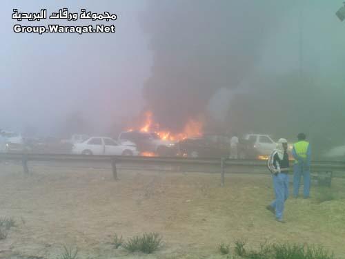 ثلاثة قتلى ومئات الجرحى بأسوأ حادث مرور بالإمارات Abudhabi10