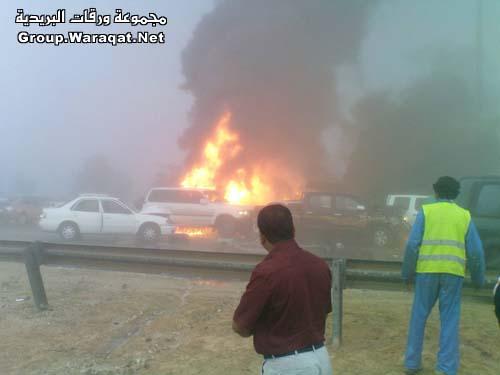 ثلاثة قتلى ومئات الجرحى بأسوأ حادث مرور بالإمارات Abudhabi11