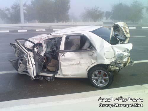 ثلاثة قتلى ومئات الجرحى بأسوأ حادث مرور بالإمارات Abudhabi12