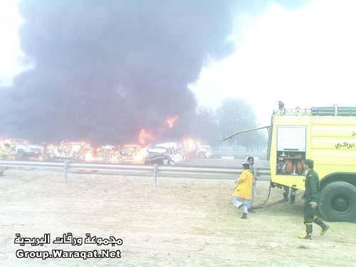 ثلاثة قتلى ومئات الجرحى بأسوأ حادث مرور بالإمارات Abudhabi13