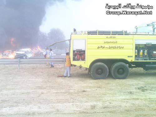 ثلاثة قتلى ومئات الجرحى بأسوأ حادث مرور بالإمارات Abudhabi14