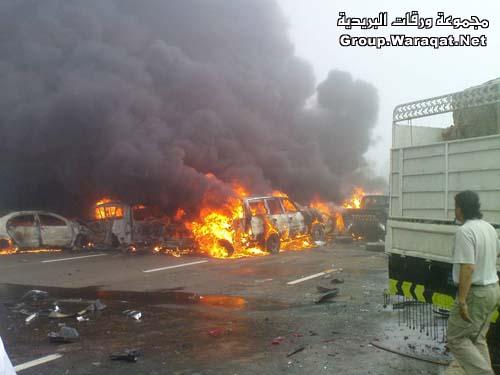 ثلاثة قتلى ومئات الجرحى بأسوأ حادث مرور بالإمارات Abudhabi2
