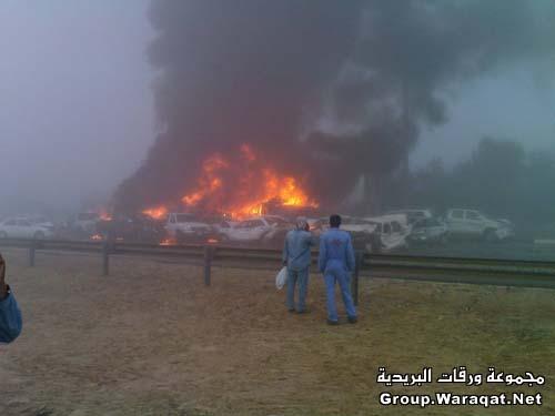 ثلاثة قتلى ومئات الجرحى بأسوأ حادث مرور بالإمارات Abudhabi3