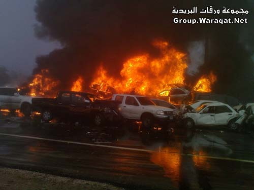 ثلاثة قتلى ومئات الجرحى بأسوأ حادث مرور بالإمارات Abudhabi8