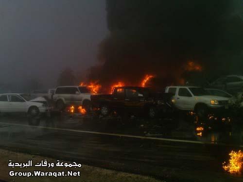 ثلاثة قتلى ومئات الجرحى بأسوأ حادث مرور بالإمارات Abudhabi9