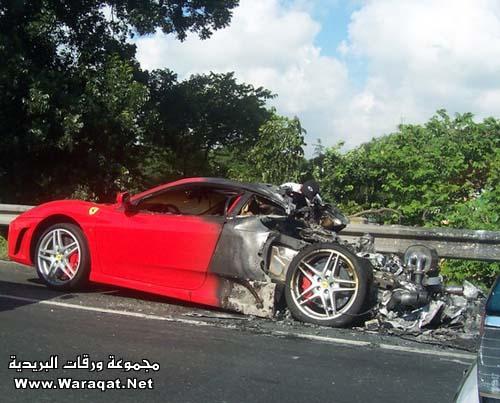 فيراري Ferrari تحترق ..! Ferrari6