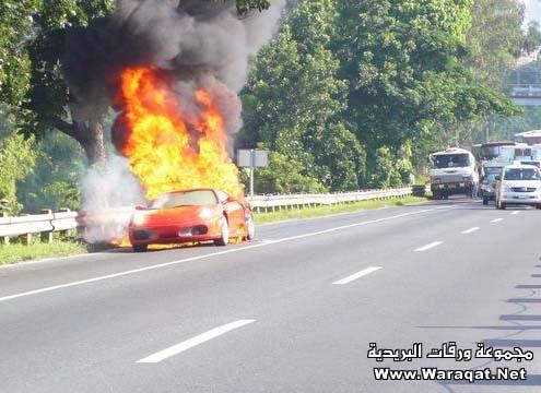 فيراري Ferrari تحترق ..! Ferrari8