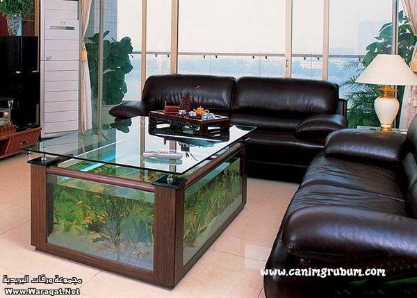 صور احواض السمك على شكل طاولات  A7oad-fish_6