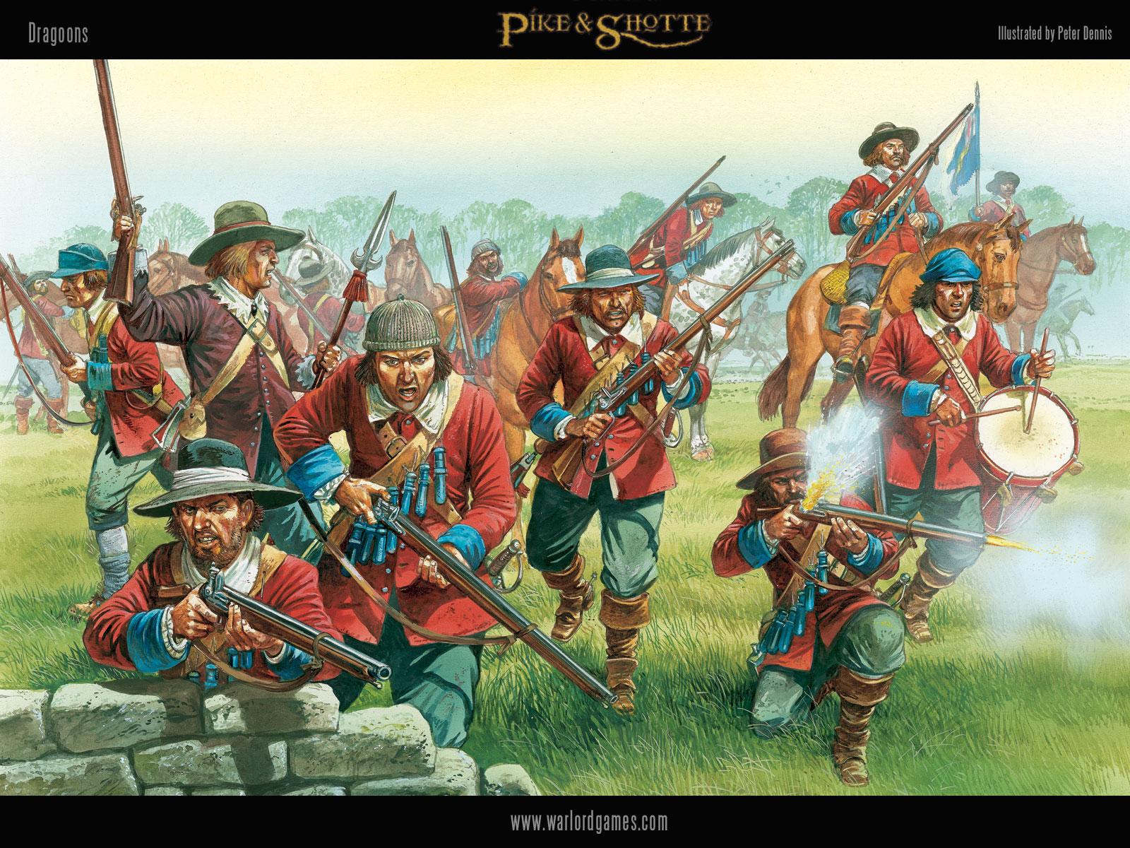 Illustrations P&S Dragoons-wallpaper