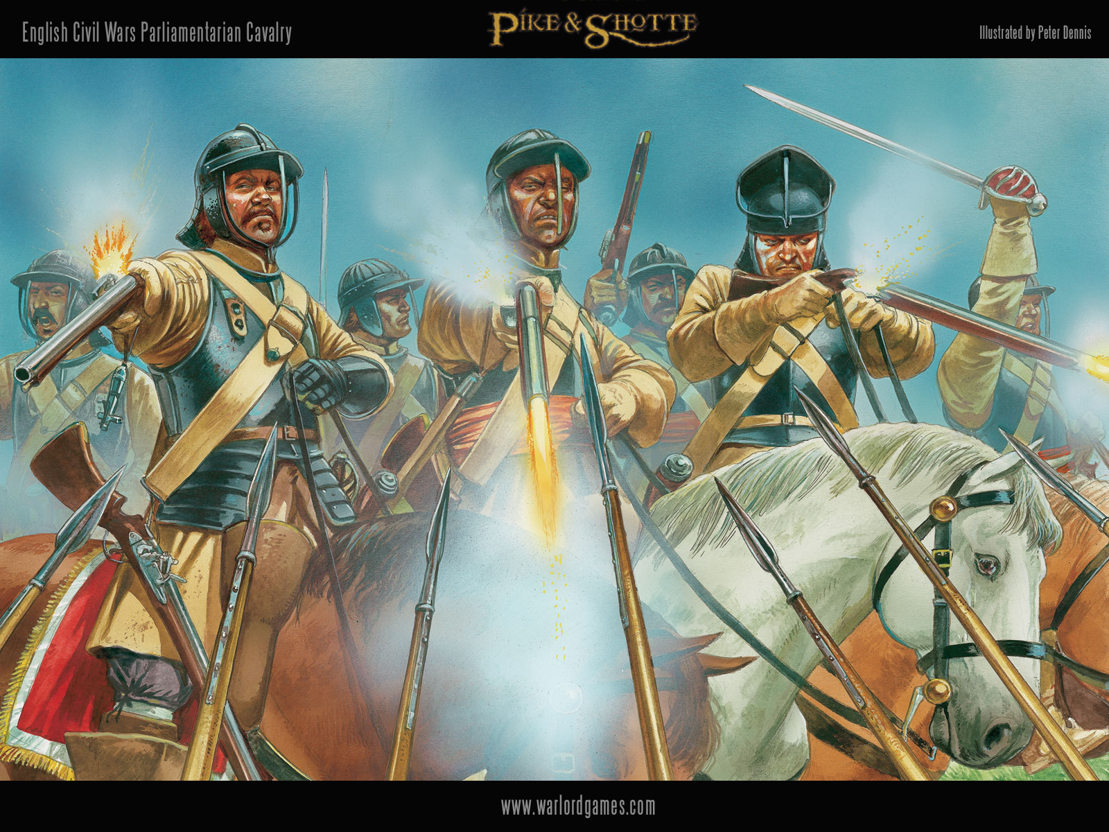 Illustrations P&S ECW-Parliament-Cavalry-wallpaper