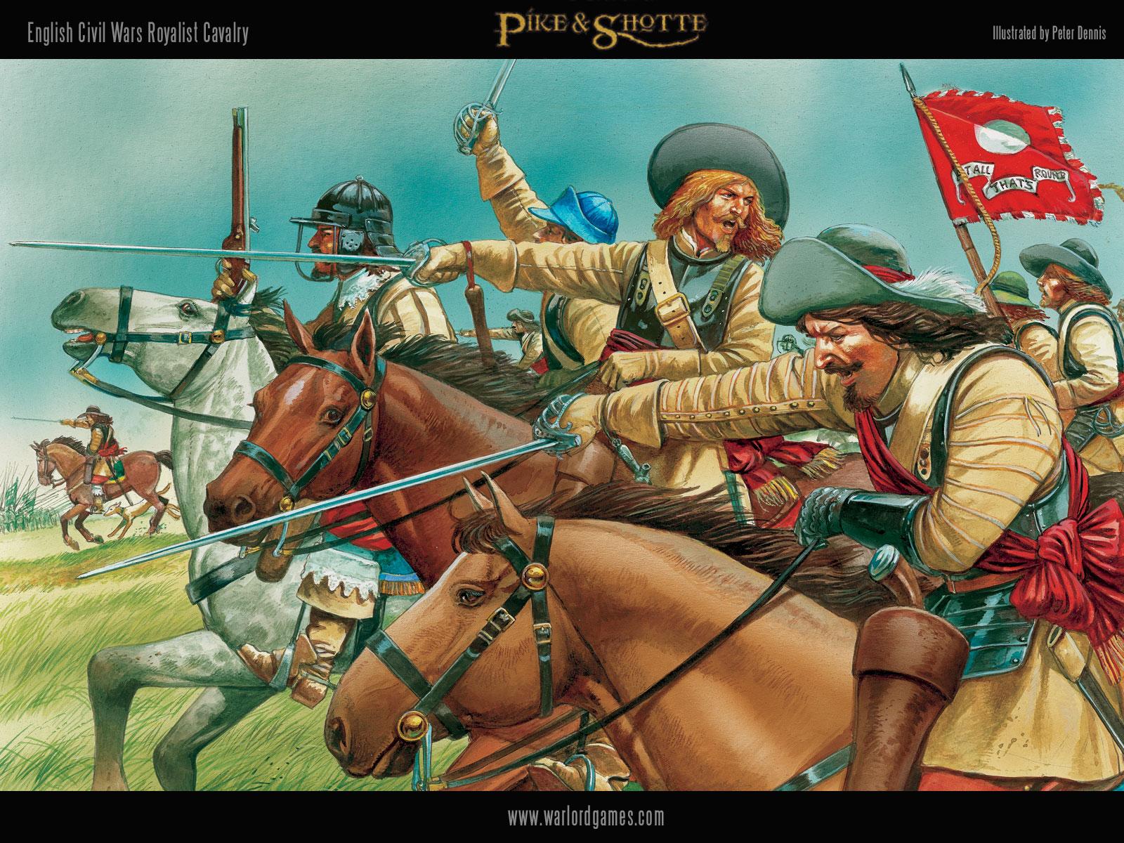 Illustrations P&S ECW-Royalist-Cavalry-wallpaper