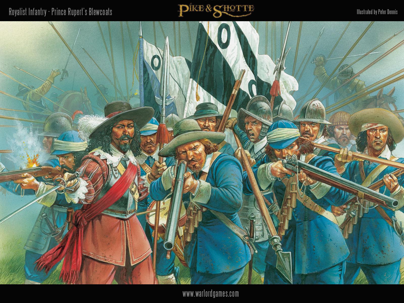 Illustrations P&S ECW-Royalist-Infantry-wallpaper