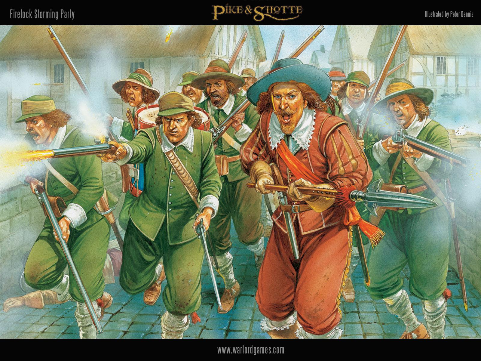 Illustrations P&S Firelocks-wallpaper