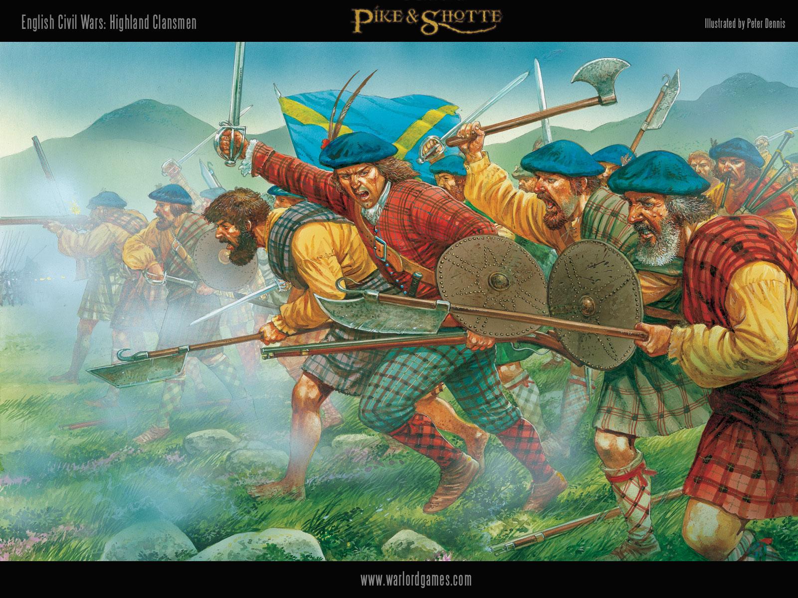 Illustrations P&S Highland-Clansmen-wallpaper