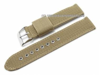 Bracelet tissu 380_watchstrap_Cu-TX-112G-gruengrau20-Uhrenarmband