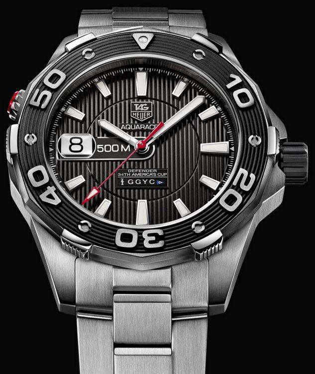 Les montres de l'America's Cup (passé / présent) Tag-heuer-2012-aquaracer-500m-defender-watch