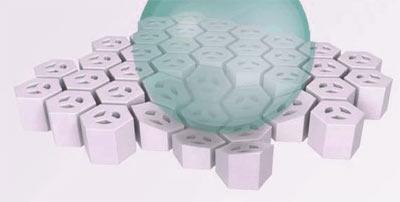 Survie dans le couple : pas évident de dormir ensemble Gel-foam-hexagonal1