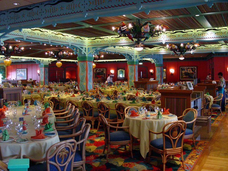 Disney cruise line embarquement immédiat Dining_ParrotCay_04