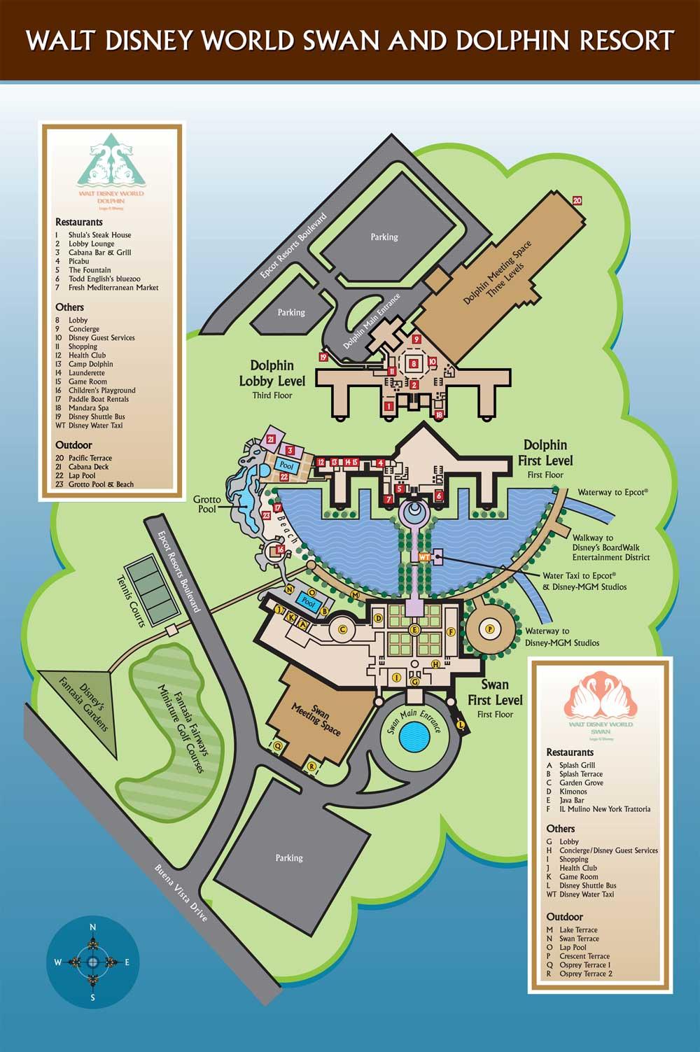 Plans (parcs+Hôtels de WDW) Swandolphin