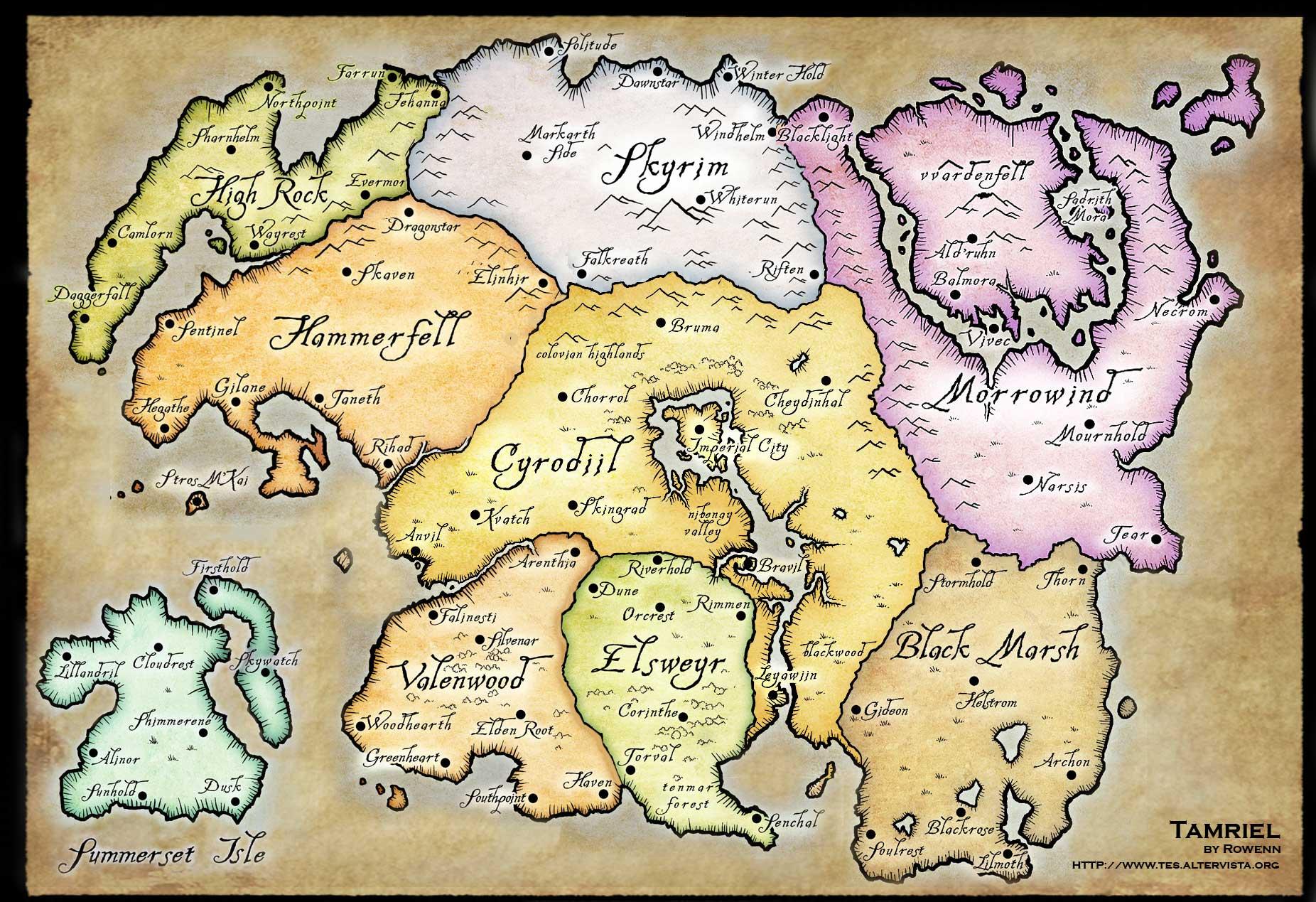 The Elder Scrolls V: Skyrim - Page 2 OldWorldMap