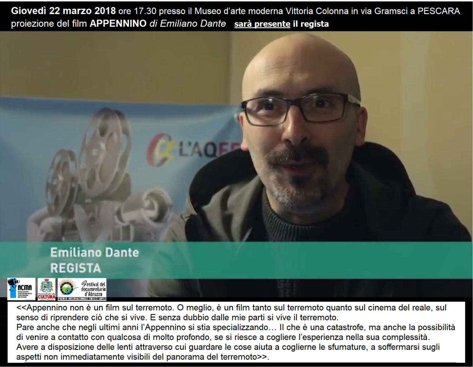 """I terremoti dell'Italia centrale come le fatiche di Sisifo... film """"Appennino""""  Banner"""