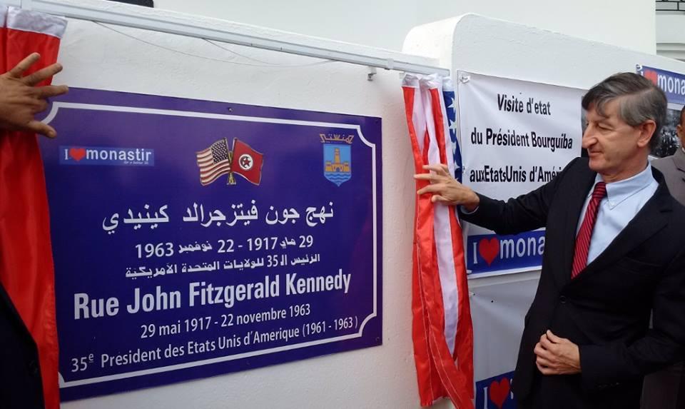John Fitzgerald Kennedy a désormais une rue à son nom à Monastir Jfk