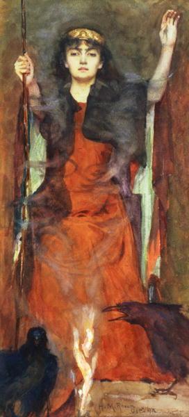 Galerie de Portraits - Page 3 TheSorceress1898byHenryMeynellRheam